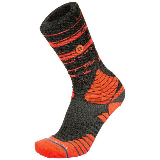 Digital Noise Socken Herren, orange / dunkelgrau, zoom bei OUTFITTER Online