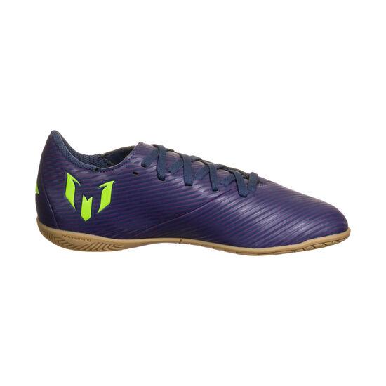 Nemeziz Messi 19.4 Indoor Fußballschuh Kinder, lila / neongrün, zoom bei OUTFITTER Online