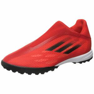 X Speedflow.3 Laceless TF Fußballschuh Herren, rot / schwarz, zoom bei OUTFITTER Online