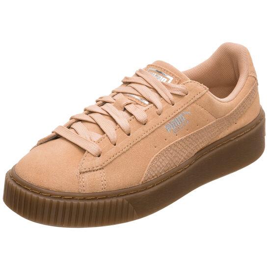 Suede Platform Animal Sneaker Damen, Braun, zoom bei OUTFITTER Online
