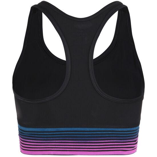 Swoosh Mesh Sport-BH Damen, schwarz / pink, zoom bei OUTFITTER Online