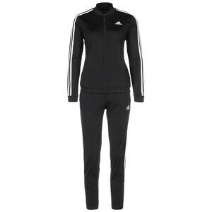 Essentials 3-Streifen Trainingsanzug Damen, schwarz / weiß, zoom bei OUTFITTER Online