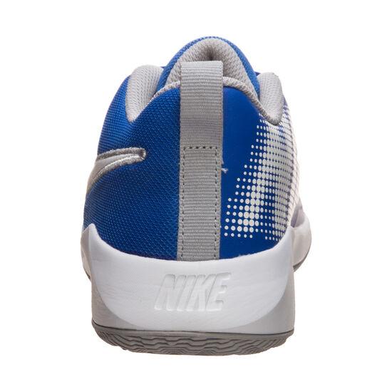 Team Hustle Quick 2 Basketballschuh Kinder, blau / weiß, zoom bei OUTFITTER Online