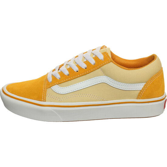 Old Skool ComfyCush Sneaker, gelb / weiß, zoom bei OUTFITTER Online