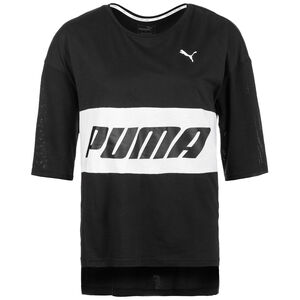 Modern Sports Boyfriend T-Shirt Damen, schwarz / gold, zoom bei OUTFITTER Online