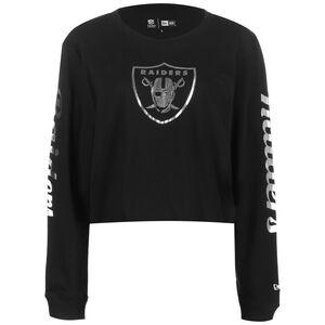 NFL Oakland Raiders Cropped Longsleeve Damen, schwarz / silber, zoom bei OUTFITTER Online