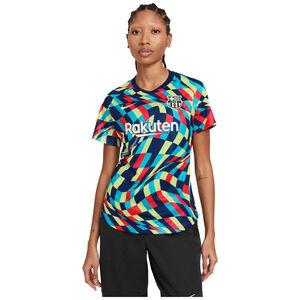 FC Barcelona Pre-Match Trainingsshirt Damen, blau / gelb, zoom bei OUTFITTER Online