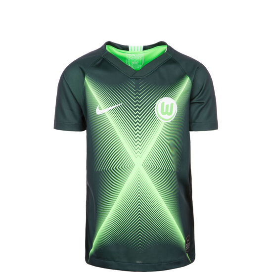 VfL Wolfsburg Trikot Home Stadium 2019/2020 Kinder, dunkelgrün / hellgrün, zoom bei OUTFITTER Online