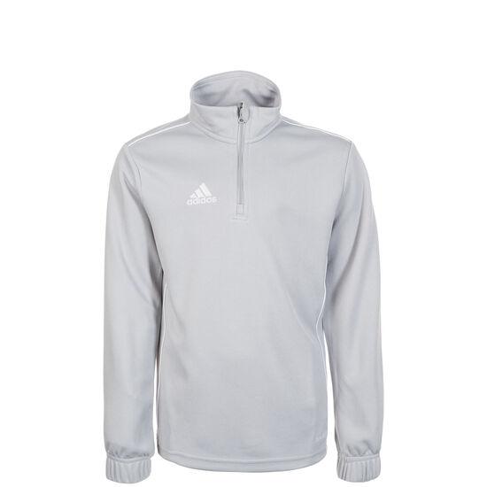 Core 18 Trainingsshirt Kinder, grau / weiß, zoom bei OUTFITTER Online