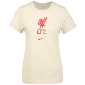 FC Liverpool Evergreen Crest T-Shirt Damen, beige / rot, zoom bei OUTFITTER Online