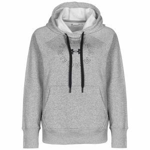 Rival Fleece Metallic Kapuzenpullover Damen, grau / schwarz, zoom bei OUTFITTER Online