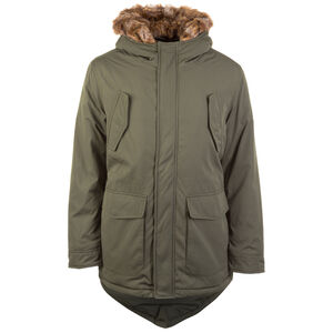 Hooded Faux Fur Parka Herren, oliv, zoom bei OUTFITTER Online