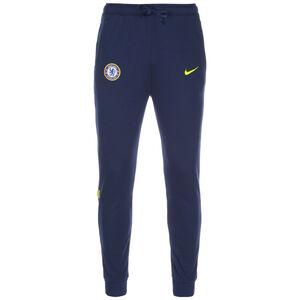 FC Chelsea Travel Fleece Trainingshose Herren, dunkelblau / gelb, zoom bei OUTFITTER Online