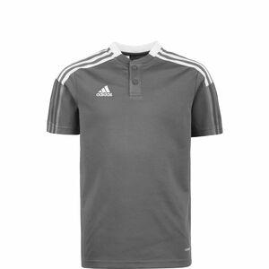 Tiro 21 Poloshirt Kinder, grau / weiß, zoom bei OUTFITTER Online