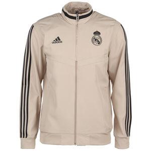 Real Madrid Präsentationsjacke Herren, beige / schwarz, zoom bei OUTFITTER Online