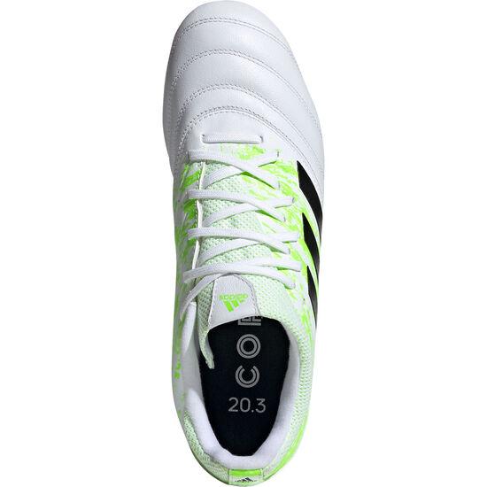 Copa 20.3 FG Fußballschuh Herren, weiß / neongrün, zoom bei OUTFITTER Online