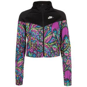 Printed Jacke Damen, schwarz / pink, zoom bei OUTFITTER Online