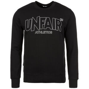 Unfair Athletics Classic Label Outline Crewneck Sweatshirt Herren, Schwarz, zoom bei OUTFITTER Online