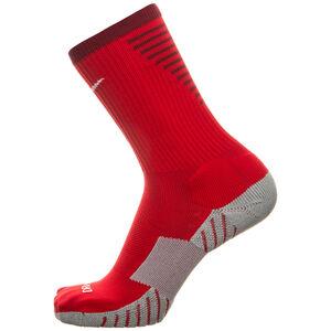 Team Matchfit Cushion Crew Socken, rot / grau, zoom bei OUTFITTER Online