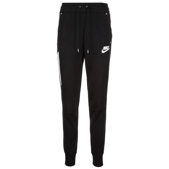 Tech Fleece Jogginghose Damen, schwarz / weiß, zoom bei OUTFITTER Online