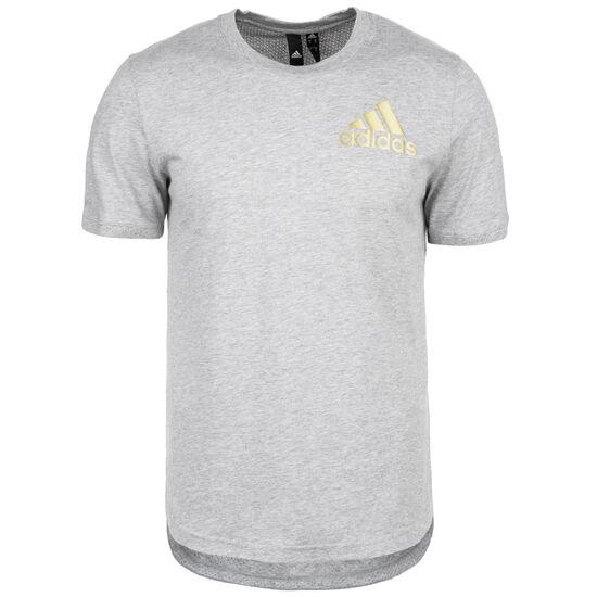 Sport ID T-Shirt Herren, grau / gold, zoom bei OUTFITTER Online
