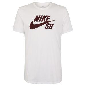 Logo T-Shirt Herren, weiß / weinrot, zoom bei OUTFITTER Online