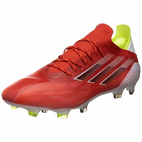 X Speedflow.1 FG Fußballschuh Herren, rot / weiß, zoom bei OUTFITTER Online