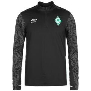 SV Werder Bremen Half Zip Longsleeve Herren, schwarz / grau, zoom bei OUTFITTER Online