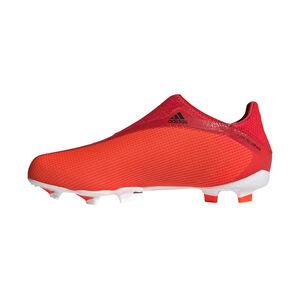X Speedflow.3 Laceless FG Fußballschuh Kinder, rot / schwarz, zoom bei OUTFITTER Online