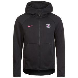 Paris Saint-Germain Tech Fleece Kapuzenjacke Herren, schwarz / pink, zoom bei OUTFITTER Online