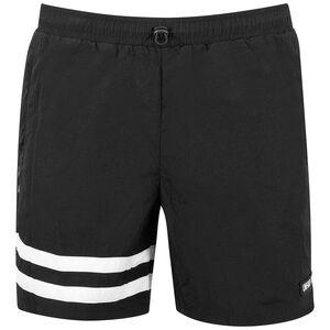DMWU Crushed Shorts Herren, schwarz / weiß, zoom bei OUTFITTER Online
