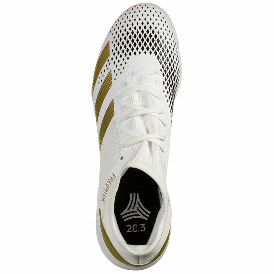 Predator 20.3 Indoor Fußballschuh Herren, weiß / gold, zoom bei OUTFITTER Online