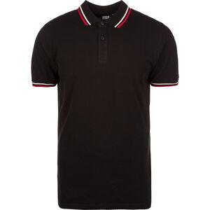 Double Stripe Poloshirt Herren, schwarz / weiß / rot, zoom bei OUTFITTER Online