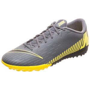 Mercurial Vapor XII Academy TF Fußballschuh Herren, dunkelgrau / gelb, zoom bei OUTFITTER Online