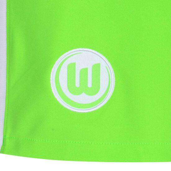 VfL Wolfsburg Shorts Home Stadium 2021/2022 Herren, neongrün, zoom bei OUTFITTER Online