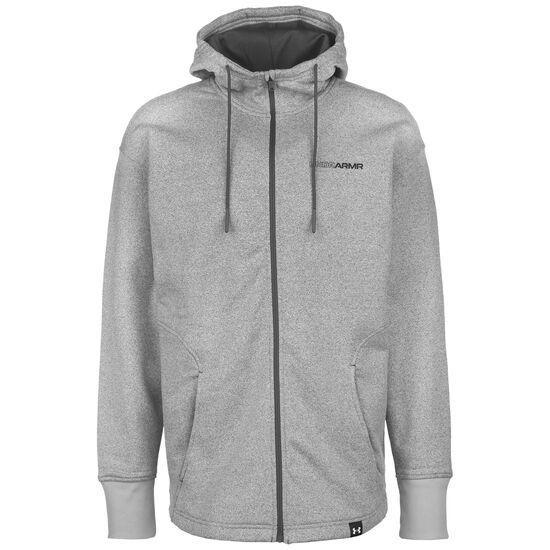 S5 Fleece Kapuzenjacke Herren, grau / schwarz, zoom bei OUTFITTER Online