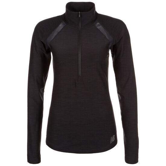 In Transit Half-Zip Laufshirt Damen, schwarz, zoom bei OUTFITTER Online