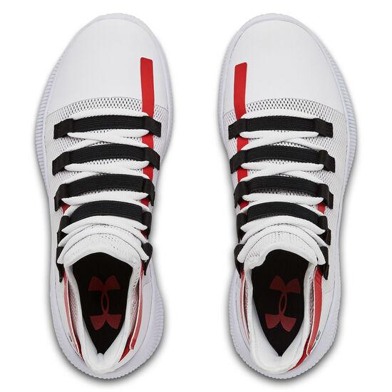 M-TAG Low Basketballschuh Herren, weiß / rot, zoom bei OUTFITTER Online