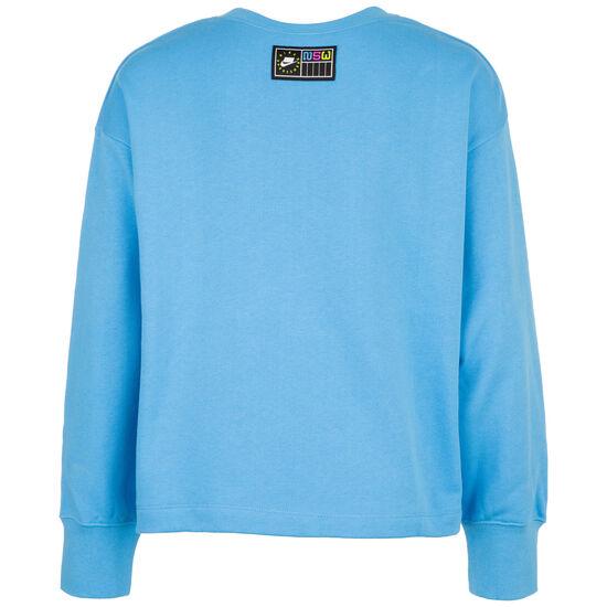 Crew Fleece Sweatshirt Damen, blau / pink, zoom bei OUTFITTER Online