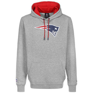 NFL New England Patriots Iconic Back to Basic Kapuzenpullover Herren, grau / rot, zoom bei OUTFITTER Online