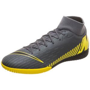Mercurial SuperflyX VI Academy Indoor Fußballschuh Herren, dunkelgrau / gelb, zoom bei OUTFITTER Online