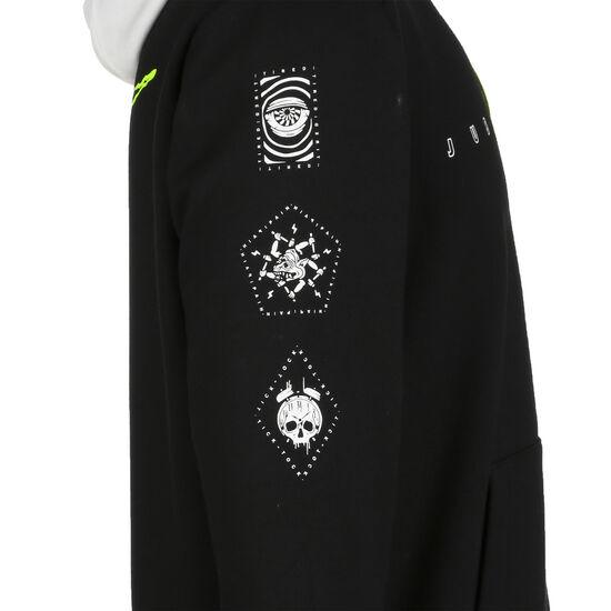 Dri-FIT Fleece Trainingsjacke Herren, schwarz / weiß, zoom bei OUTFITTER Online