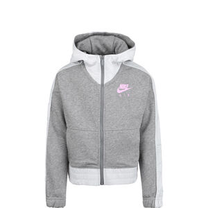 Air Kapuzensweatjacke Kinder, grau / rosa, zoom bei OUTFITTER Online