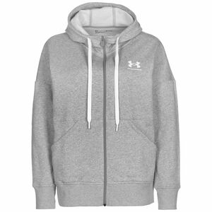 Rival Fleece Kapuzenjacke Damen, grau / weiß, zoom bei OUTFITTER Online