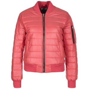 Coated Jersey MA-1 Bomber Jacke Damen, rot, zoom bei OUTFITTER Online