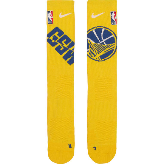 Golden State Warriors NBA Crew Basketballsocken, gelb / blau, zoom bei OUTFITTER Online