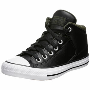 Chuck Taylor All Star High Street Mid Sneaker, schwarz / oliv, zoom bei OUTFITTER Online