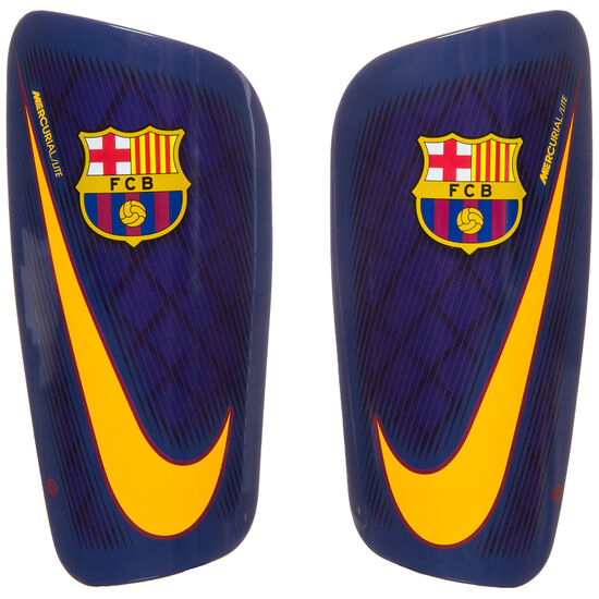 FC Barcelona Mercurial Lite Schienbeinschoner, Blau, zoom bei OUTFITTER Online