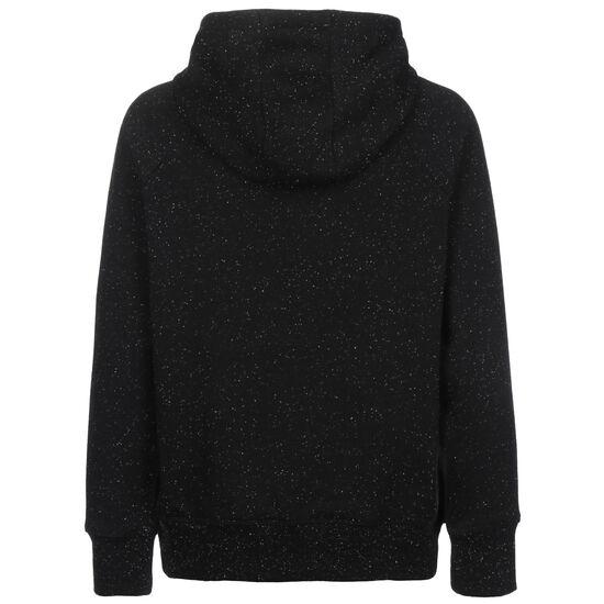 Rival Fleece Logo Kapuzenpullover Damen, schwarz / weiß, zoom bei OUTFITTER Online
