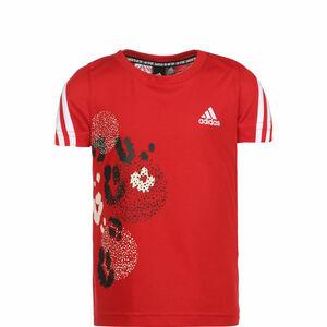 3-Streifen Graphic T-Shirt Kinder, rot / weiß, zoom bei OUTFITTER Online